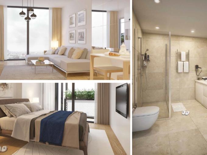 Продажа - комплекс апартаментов 77,78 кв.м и 116 кв.м Стамбул Турция