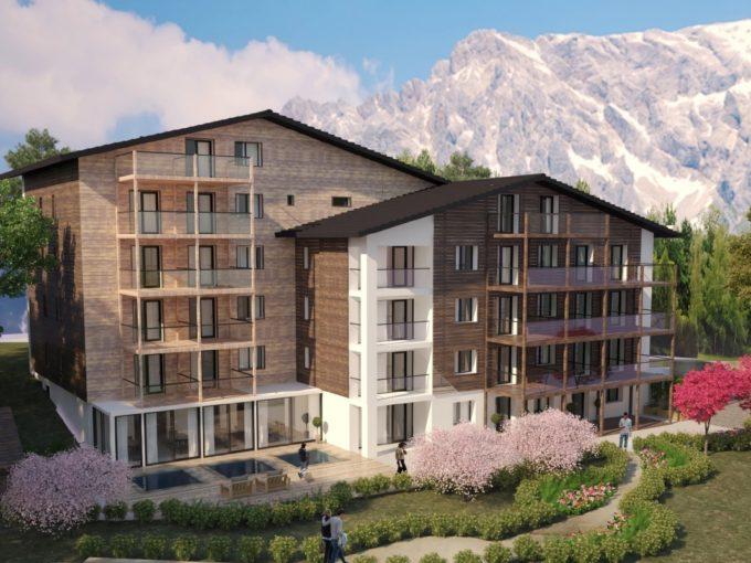 Комплекс апартаментов в Лойкербаде / 47 апартаментов и 1 здание (21 комната)